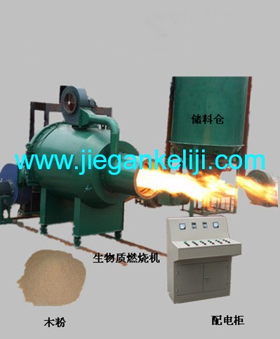 Biomass particle burner
